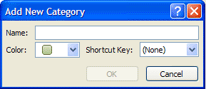 how to add categories to outlook